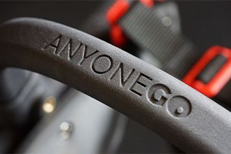 anyonego logo, wheelchair for dogs, trolley for dogs with handicap