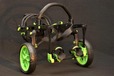 vozík z 3D tiskárny, vozík anyonego, vozík pro ochrnuté psy