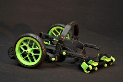 sklopná kolečka, vozík pro psy, zelené doplňky