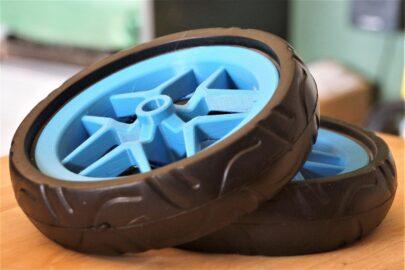 kolečka, vozík pro psa, modrá